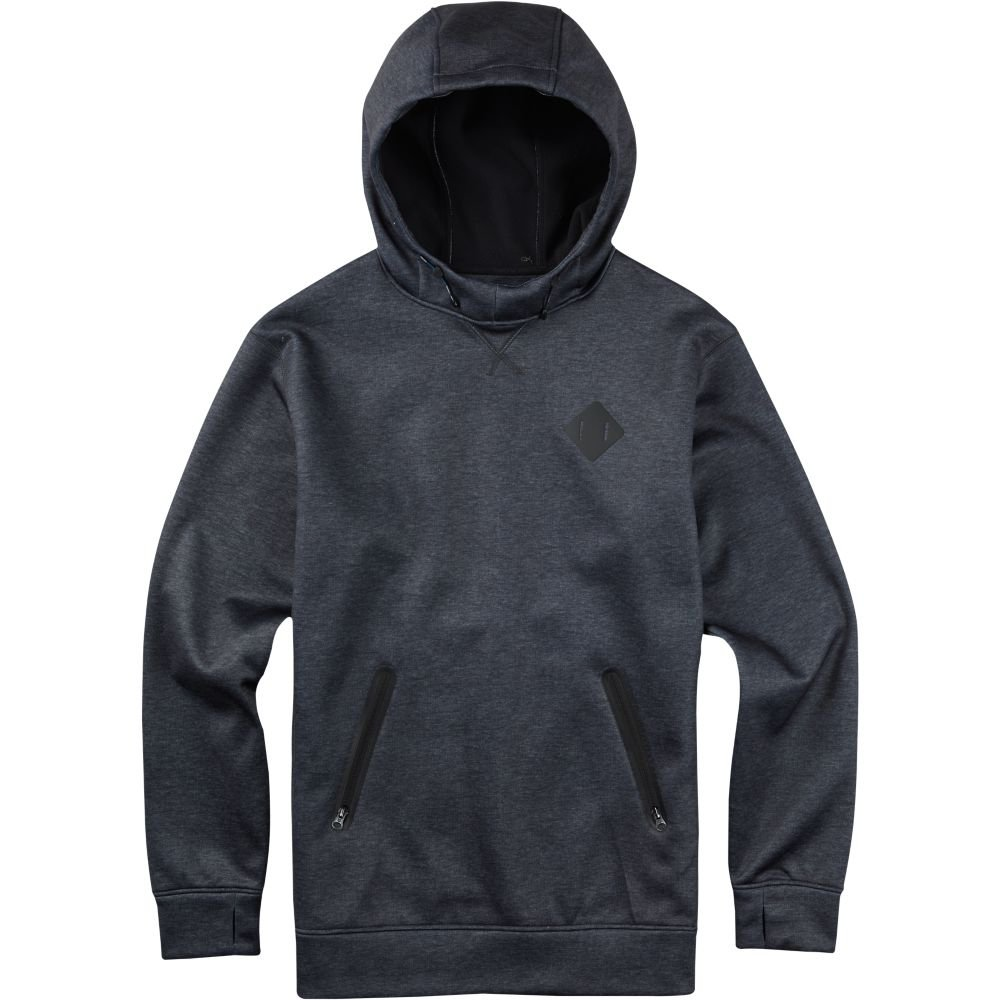 Crown Bonded Pullover Hoodie, True Black Heather, Small Burton 141201
