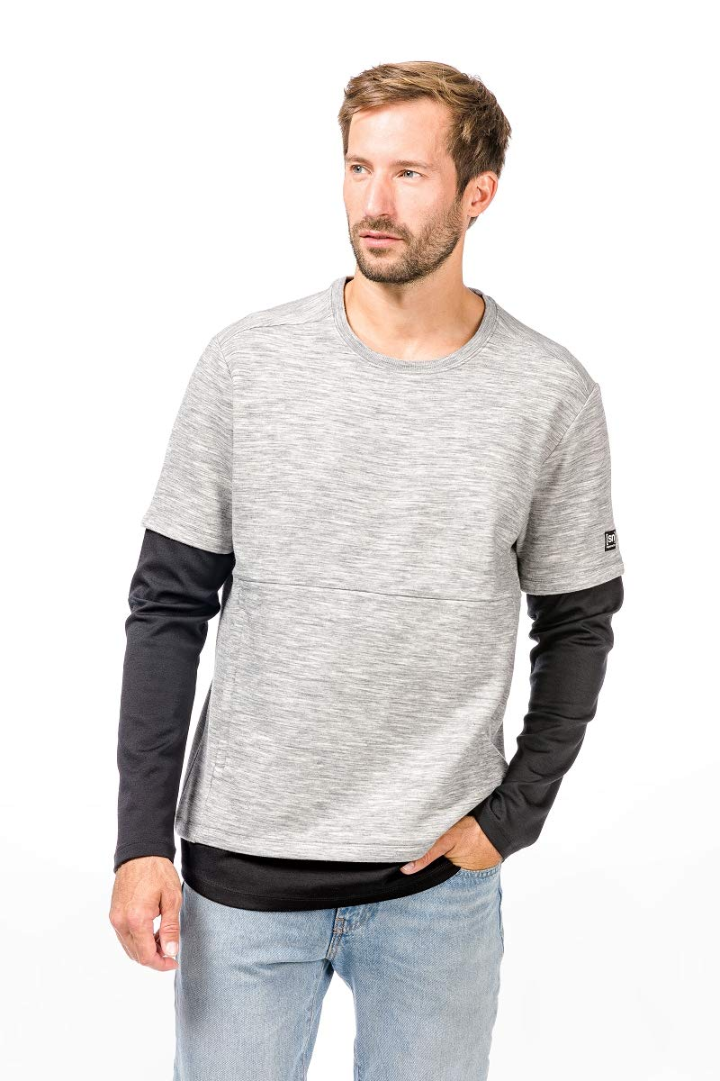 Super.natural Herren M Motion Double Layer Crew Sport Sweatshirt