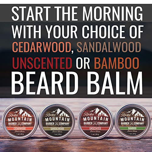 Beard Balm Variety Pack – 4 Beard Balm Samples (1 oz each) Made with Natural Oils, Butters & Rich in Vitamins & Minerals…