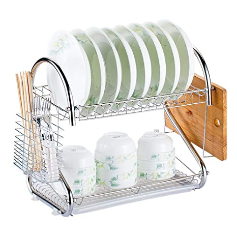 Amazon.com: Festnight Dish Drying Rack Stainless Steel Dryer ...