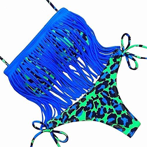 Imbottito Bagno Up Sexy Frange Nappine Bagno Push Da Da Costumi Costume Blu Ragazze DELEY Swimwear Donne Fascia Bikini Vacanze wExY0qEIO