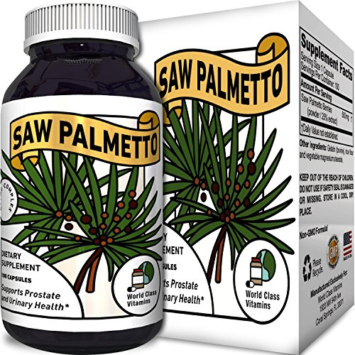 Saw Palmetto Extract Berry Hair Loss Supplement for Hair Growth for Women and Men and Potent Prostate Support Pills with Pure Saw Palmetto 25% A Natural Acne Skin Care with - Women Palmetto Saw