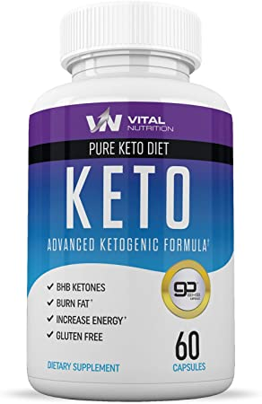 Pure Keto Diet Pills - Ketosis Supplement & Ketogenic Carb Blocker - Best Keto Diet Pills for Women and Men - Helps Boost Energy & Metabolism - 60 Capsules