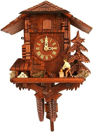 Alexander Taron 435 Engstler Weight-Driven Cuckoo Clock-Full Size-10.5 H x 9.5 W x 6.25 D, Brown