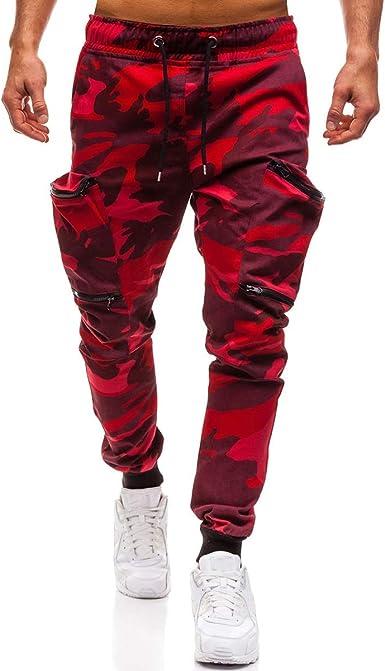 Pantalones de lápiz de Camuflaje para Hombre Pantalones de chándal ...