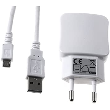 Multi-Cargador de Pared con 2X USB 2,1A Incl. Cable de Carga ...