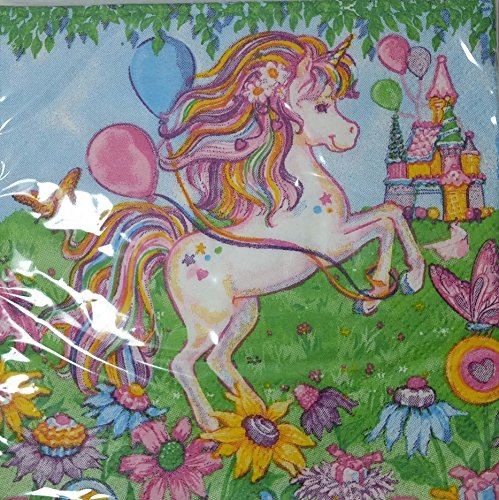 Mystical Unicorn Beverage Napkins 16ct (Beverage Topper compare prices)
