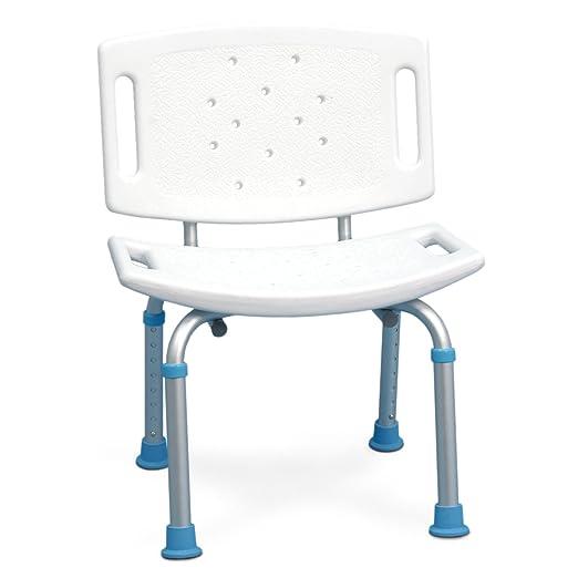 AquaSense Adjustable Seat with Backrest White