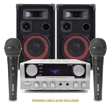 Amplificador de altavoces de Fiesta y karaoke con micrófonos xen8 ...
