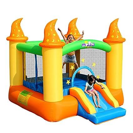 Daxiong Castillo Inflable para niños, Interior, pequeño tobogán ...