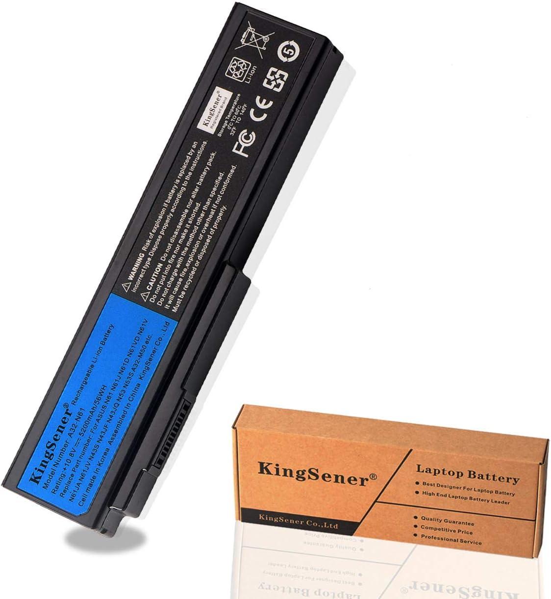 KingSener A32-N61 Battery for Asus N61 N61J N61D N61V N61VG N61JA N61JV M50s N43S N43JF N43JQ N53 N53S N53SV A32-M50 A32-X64