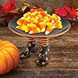 KOVOT Halloween Witch Candy Dish - Ceramic Halloween Decoration Food Or Prop Stand