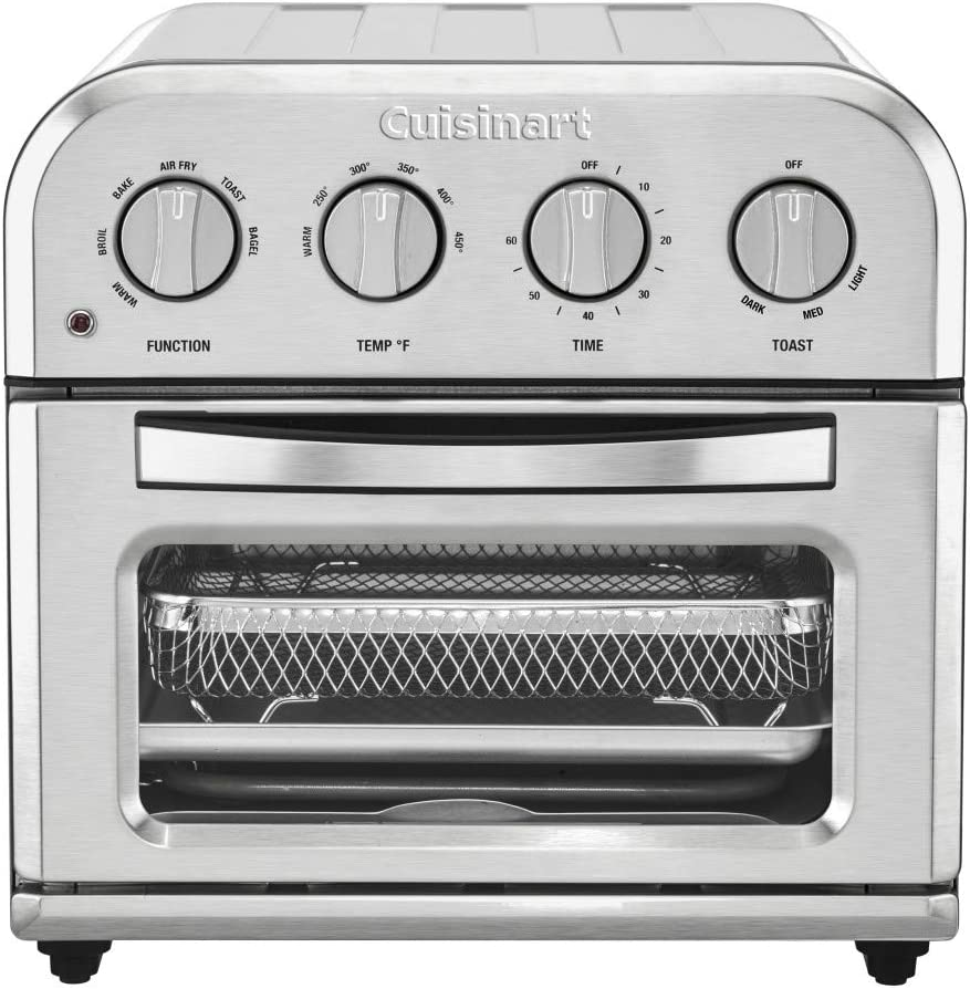 "Cuisinart TOA-28 Compact AirFryer Toaster Oven Air Fryer, 12.5"" x 15.5"" x 11.5"", Silver"