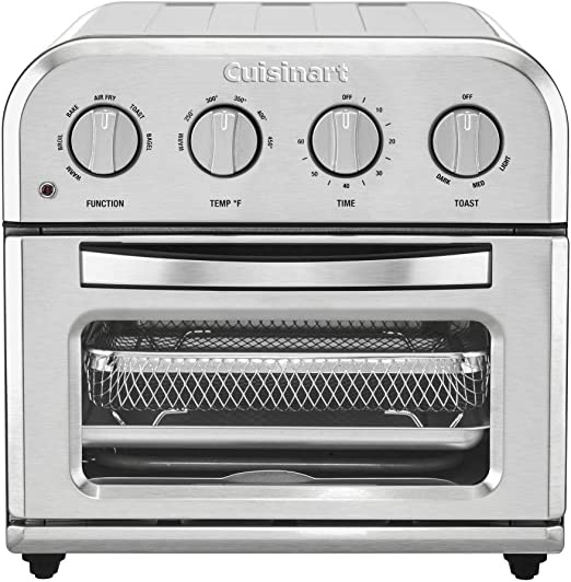Amazon Com Cuisinart Toa 28 Compact Toaster Oven Airfryer Silver