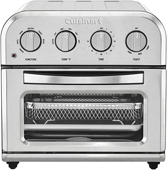 Patent Pending Grey HOMEST Toaster Oven Dust Cover with Accessory Pockets Compatible with Cuisinart TOA-28 Compact Toaster Oven AirFryer