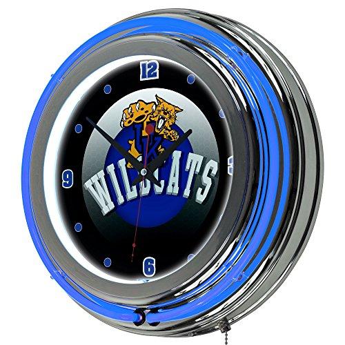 Trademark Gameroom University of Kentucky Wildcats Chrome Double Rung Neon Clock - HC -