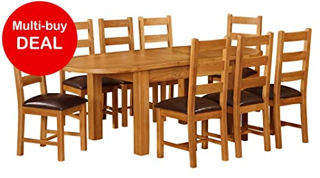 Stupendous Canterbury Oak 1 8 2 2 Oval Extending Dining Table Amazon Andrewgaddart Wooden Chair Designs For Living Room Andrewgaddartcom