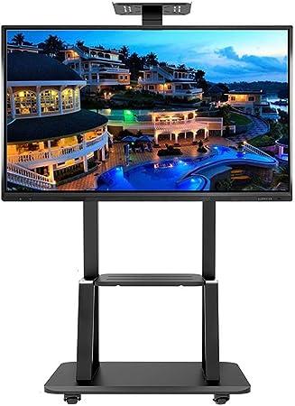 ZAQI Soporte TV Trole Carro de TV móvil para Panel de Pantalla Plana de Plasma LED