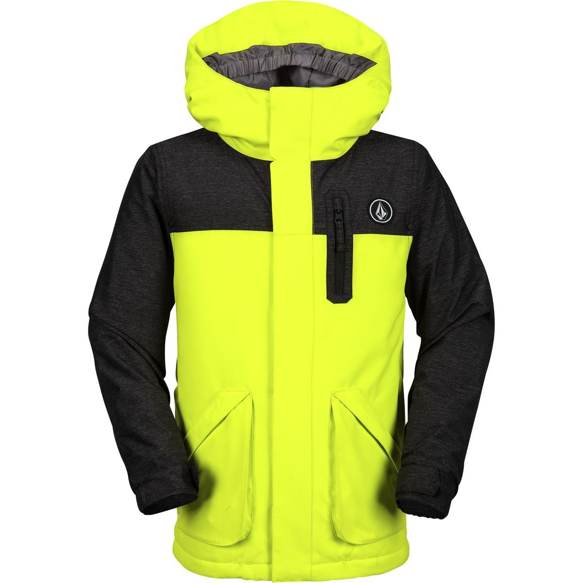 Volcom Big Boys' Vs Insulated Jacket, Lime, S by Volcom