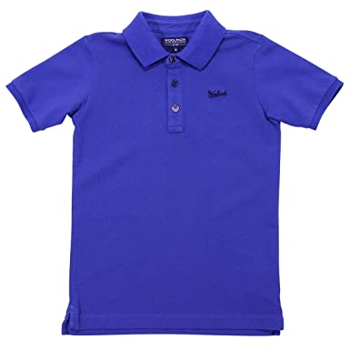 Woolrich Teen Boy Polo BLU Royal in Cotone Mod. WKPOL03443891T 16A ...