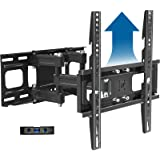 Full Motion TV Wall Mount Bracket Height Setting Dual Swivel Articulating Arms Extension Tilt Rotation, JUSTSTONE Fits Most 2