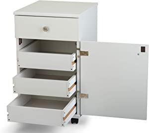 Arrow 801 Suzi Sidekick Portable Sewing, Crafting, and Quilting Storage and Organization Cabinet, White Finish