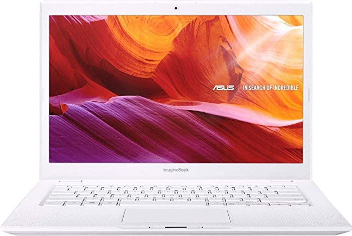 "ASUS ImagineBook 14"" FHD LED-Backlit Laptop, Intel Core M3-8100Y Up to 3.4GHz, 4GB RAM, 128GB SSD, Webcam, 802.11 ac, Bluetooth, USB 3.1 Type C, HDMI, Windows 10 Home in S Mode, Textured White"