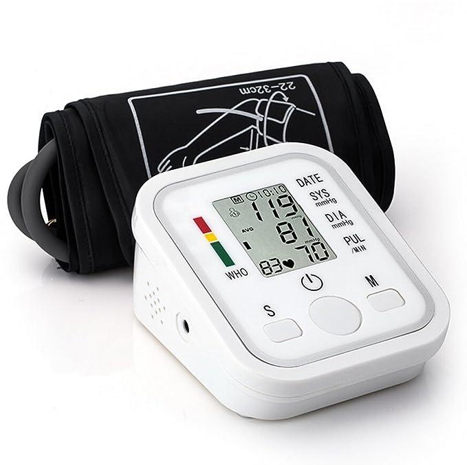 - Tensiómetro digital automático electrónico brazo presión arterial y pulso Medidor de Ritmo de detector Who con arrhythmie de detección, ligero Legibilidad ...