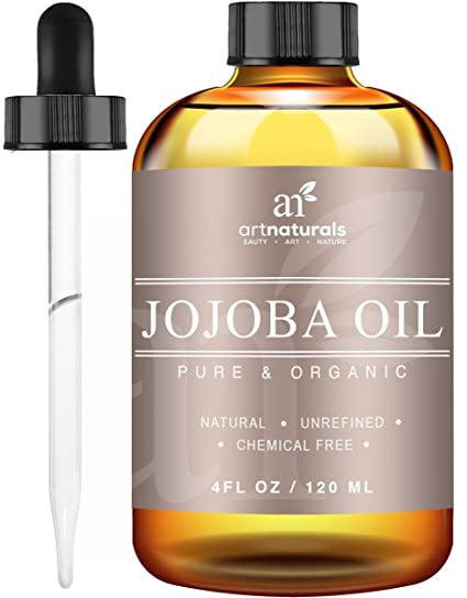 ArtNaturals Aceite de Jojoba Orgánico Certificado USDA, (4 onzas) Mejor para Sensible,