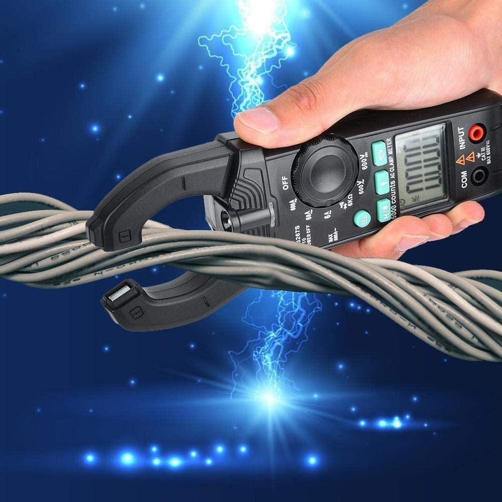Portable High Precision Digital Clamp Meter 6000 Count AC DC Current Tester CHUNSHENN Clamp Multimeter, Clamp Meter