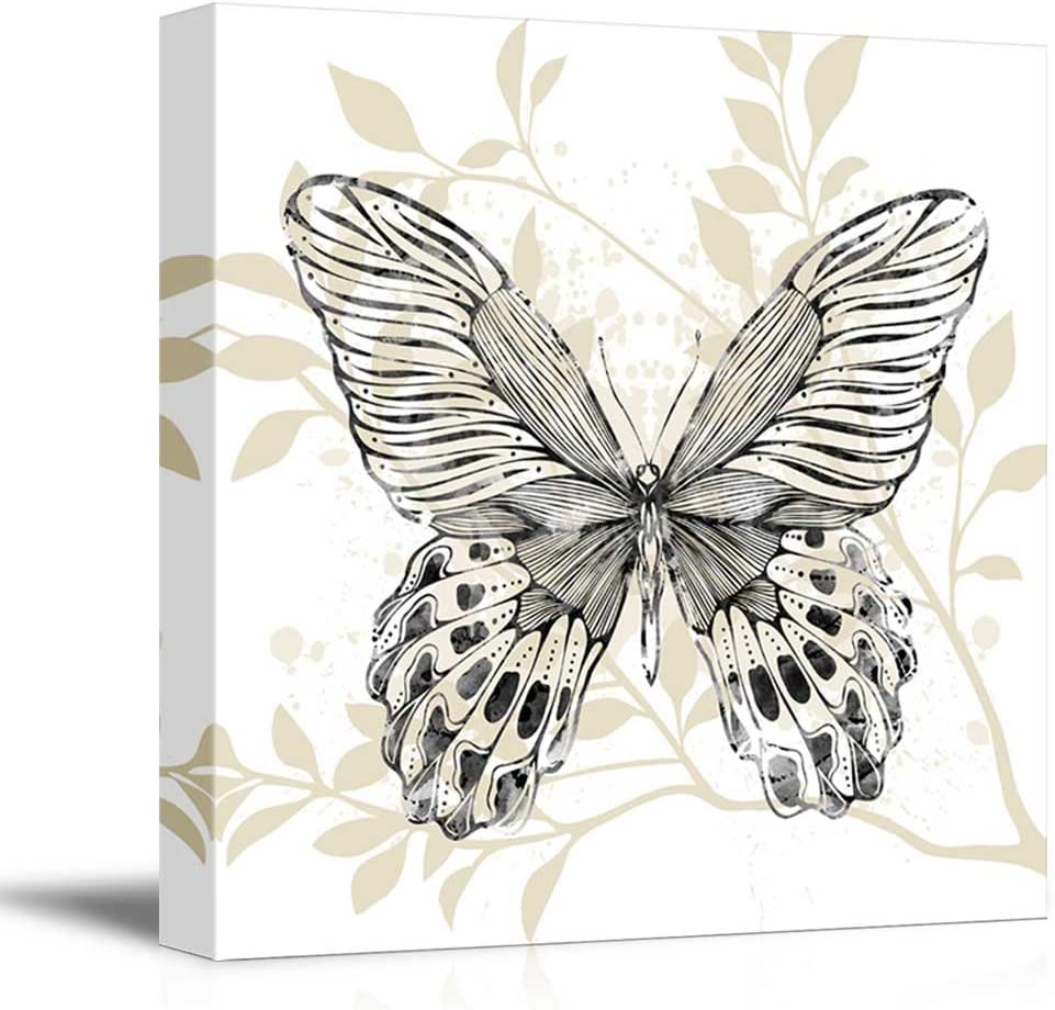 Elegant Craft, Made With Love, Square Butterfly Leaf Pattern