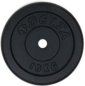Delta Elite Dura-Strong Döküm Plaka Çi̇Ftli̇, Siyah, 10 kg