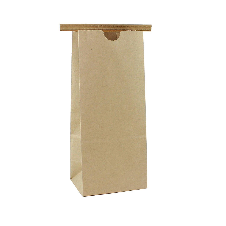 AwePackage 1/2 Lb(8 oz) Kraft Paper Tin Tie Bag (100 Pack)