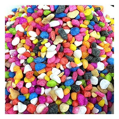 ECYC 3.5oz Colorful Irregular Pebble Stones For Garden Ornament Bonsai Aquarium Fish Tank Landscape Decor,1.5cm