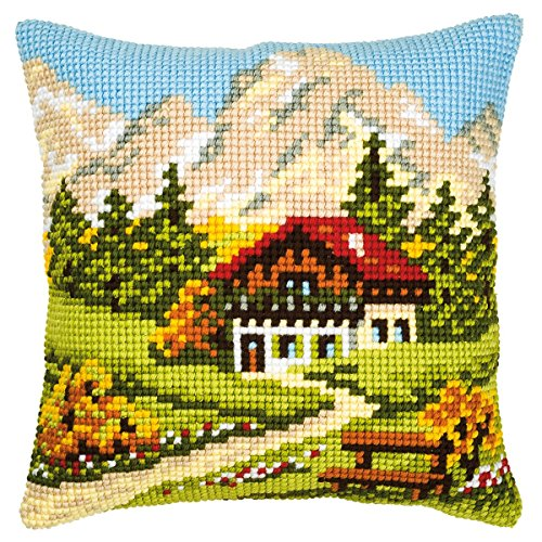 Mountain Chalet Cushion Front Chunky Cross Stitch Kit Chunky Cross Stitch