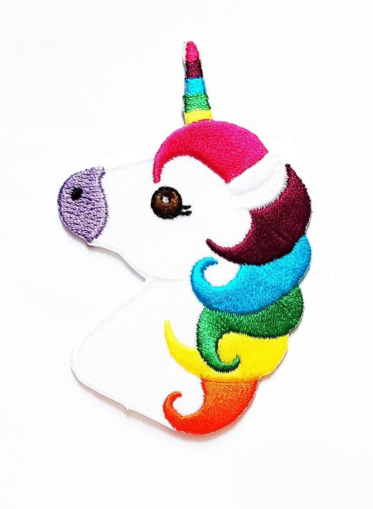Parche de unicornio con diseño de cabeza de arcoíris para ...