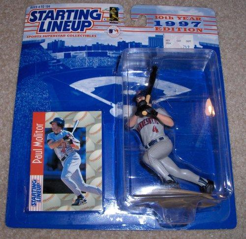 (Starting Lineup Paul Molitor Figure with Trading Card 1997 MLB Baseball Minnesota Twins)