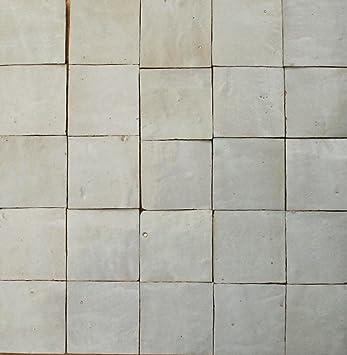 1m² weiße Zellige Fliesen 10x10x1,2cm - marokkanische Mosaikfliesen ...