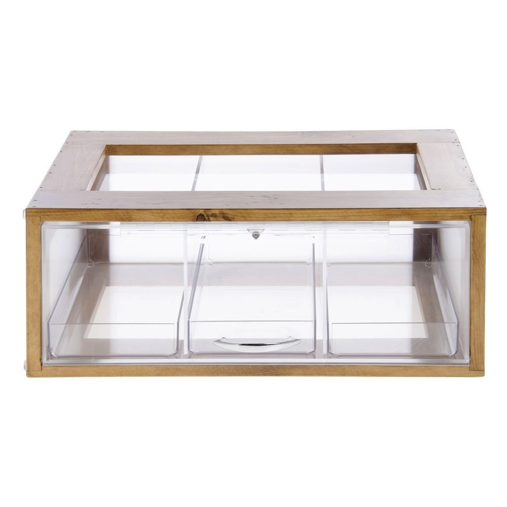 Cal-Mil 1204-99 Bread Display, 20.5'' Height, 8'' Width, 13'' Length, Reclaimed Wood, Madera
