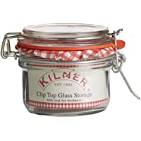 Kilner Round Clip Top Jar, 125ml, Transparent, 01635