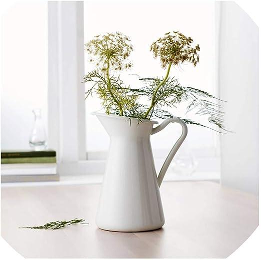 Retro Vintage Shabby Chic Metal Plant Flower Vase Pot Planter Garden Home Decor
