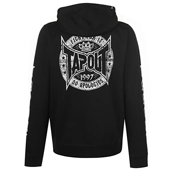 Mens Hoodie TapouT Sweatshirt Black Hoody Sweater Top Full Core Zip xwpqpFg4