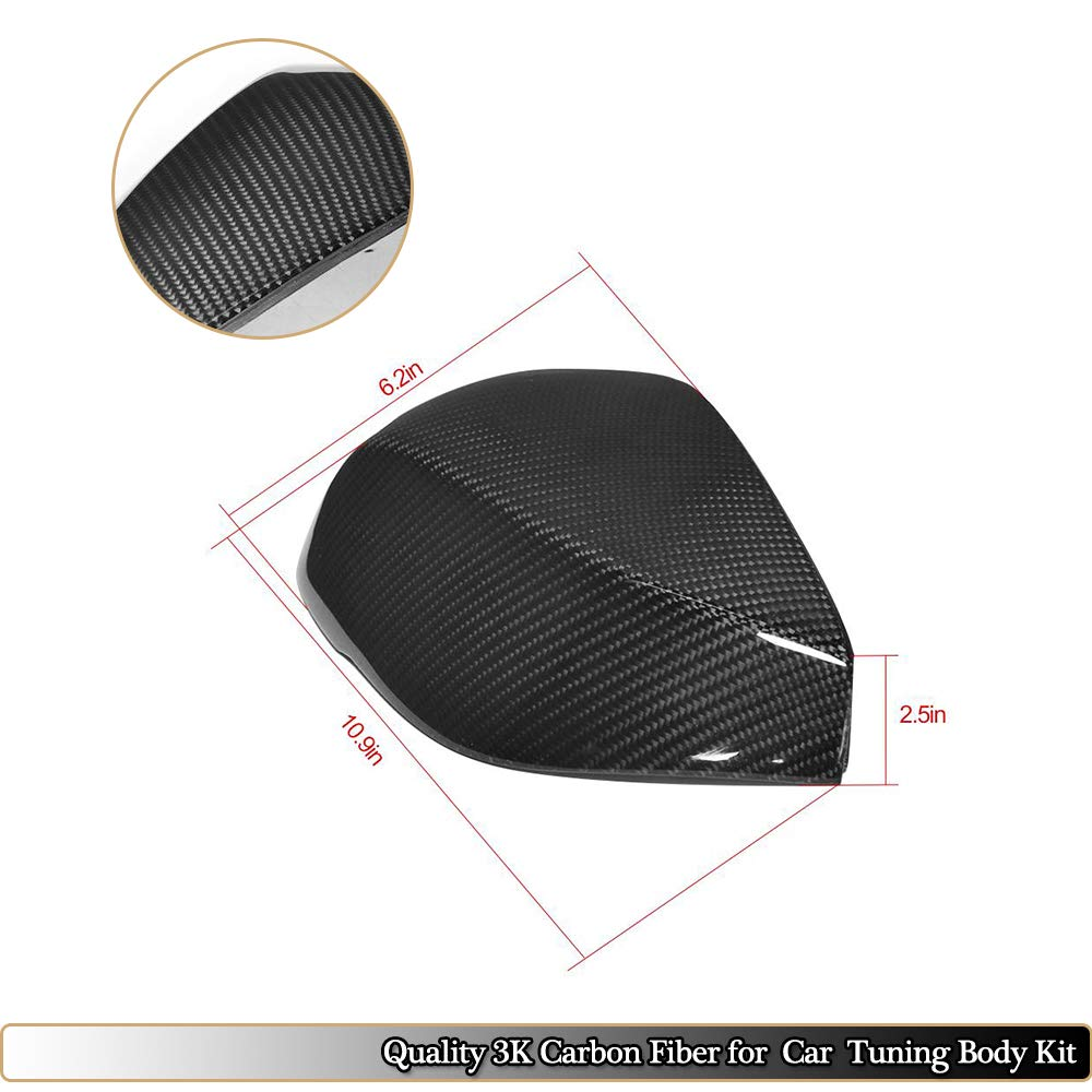 MCARCAR KIT Mirror Cover fits Infiniti Q50 Q50S Sedan 2014-2019 Add on Factory Outlet Carbon Fiber CF Side Rearview Mirror Caps Car Exterior Outside Shell