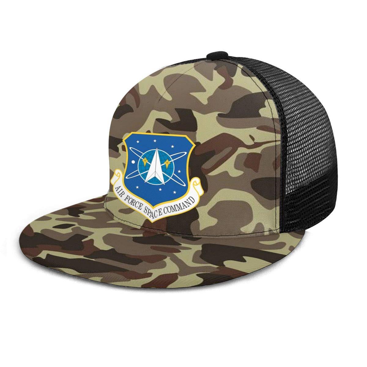 Air Force Space Command Classic Grid Hop Flat Along Baseball Hats Snapback Men Women Caps Adjustable