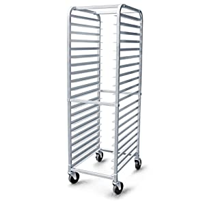 New Star Foodservice 36527 Aluminum 20-Tier Commercial Kitchen Bun Pan Rack, 26-Inch by 20-Inch by 69-Inch