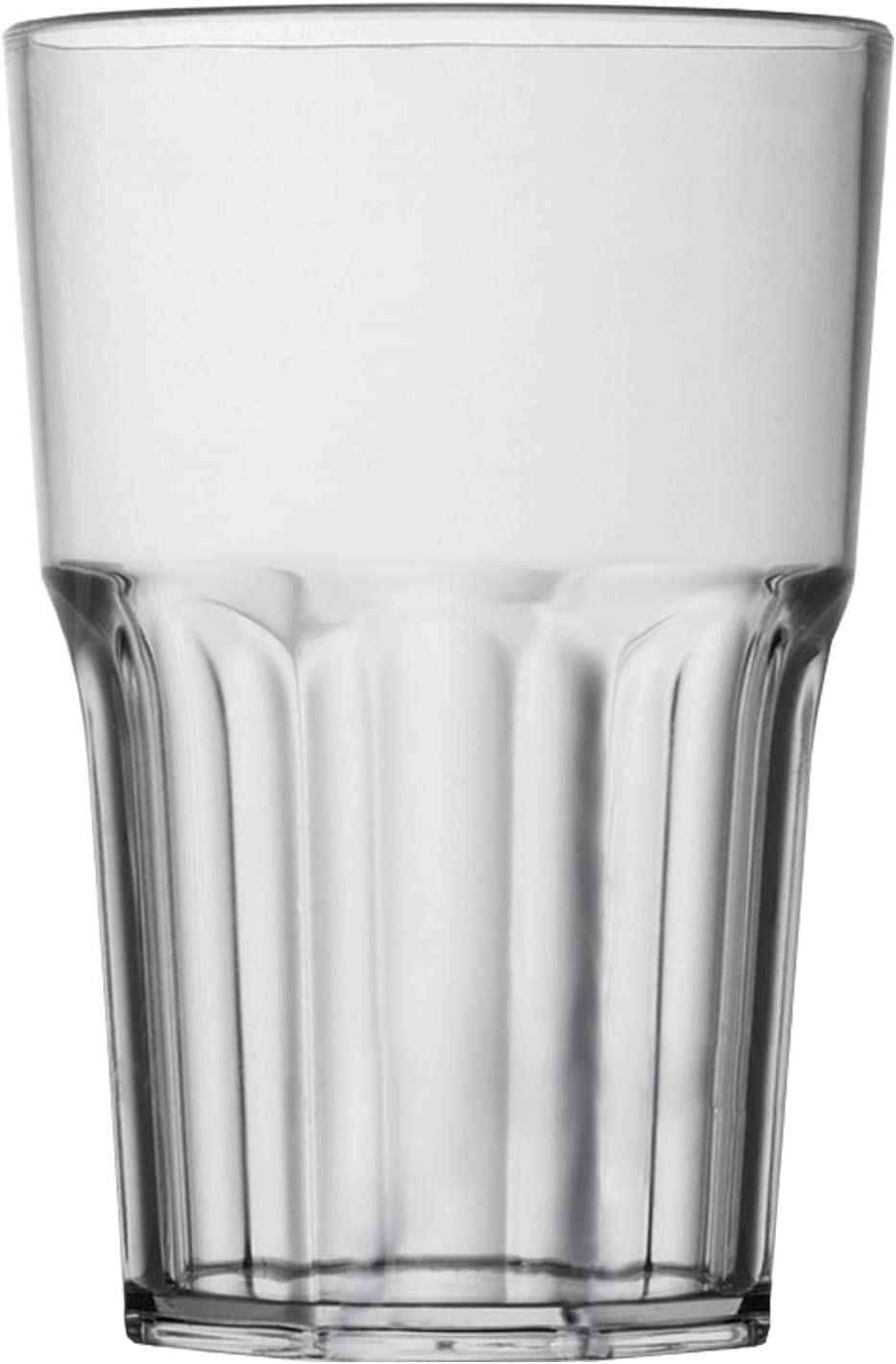Garnet - Vaso de plástico reutilizable Granity 40, juego de 6 unidades, apto para lavavajillas, fabricado en Italia, 0,4 litros