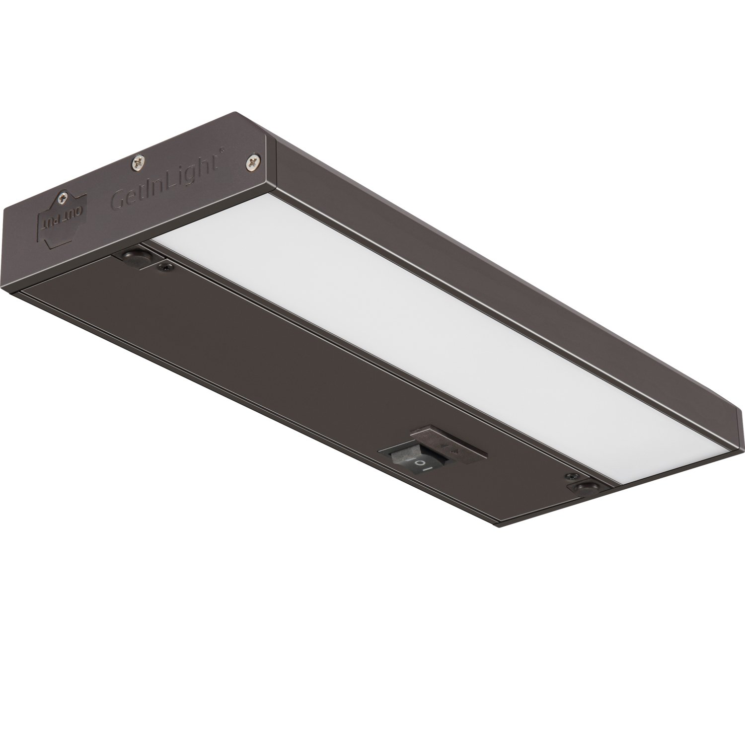 GetInLight 3 Color Levels Dimmable LED Under Cabinet Lighting with ETL Listed, Warm White (2700K), Soft White (3000K), Bright White (4000K), Bronze Finished, 9-inch, IN-0210-0-BZ by GetInLight