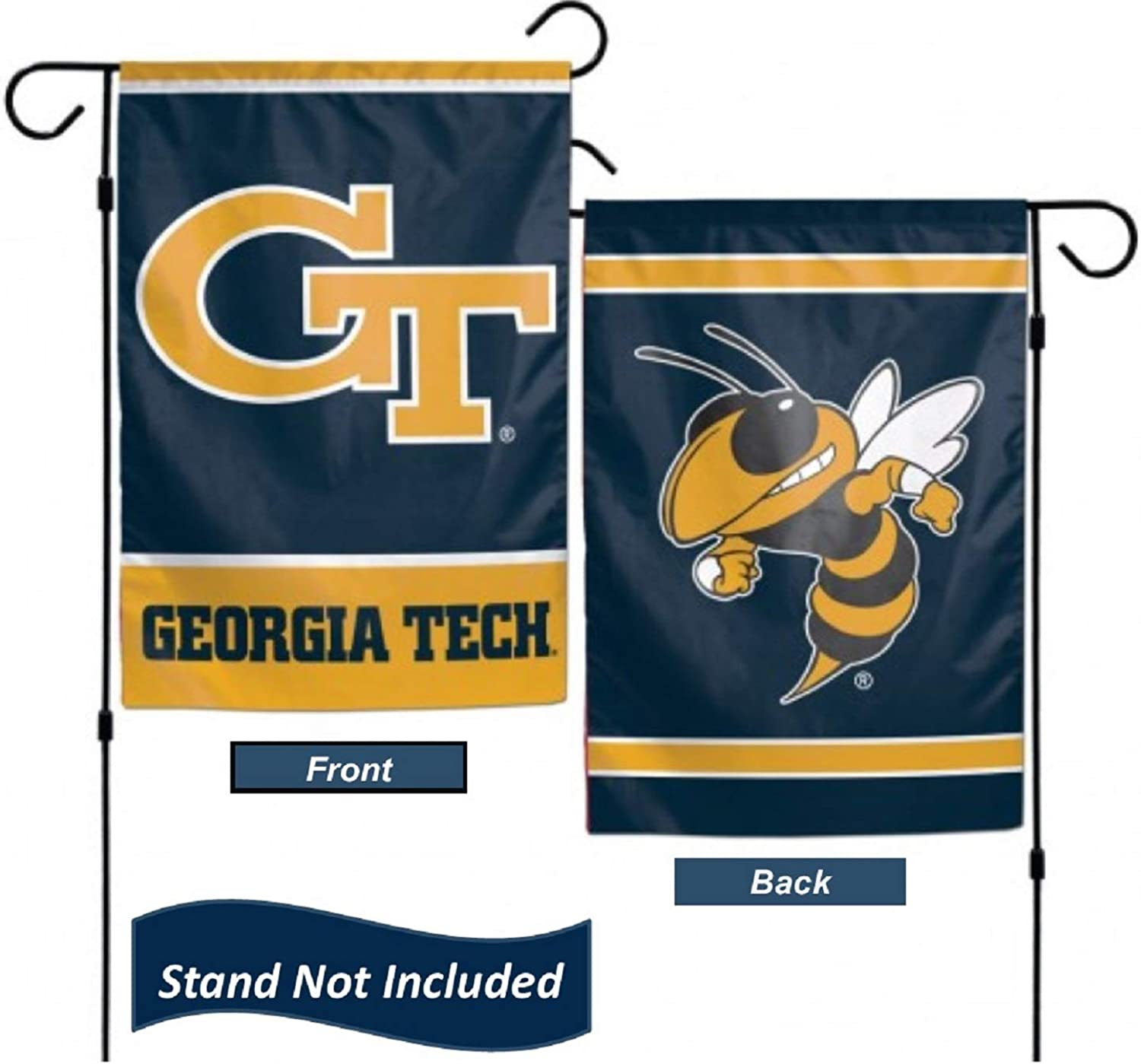 "Georgia Tech Yellow Jackets 12.5"" x 18"" Double Sided Yard and Garden College Banner Flag is Printed in The USA,"