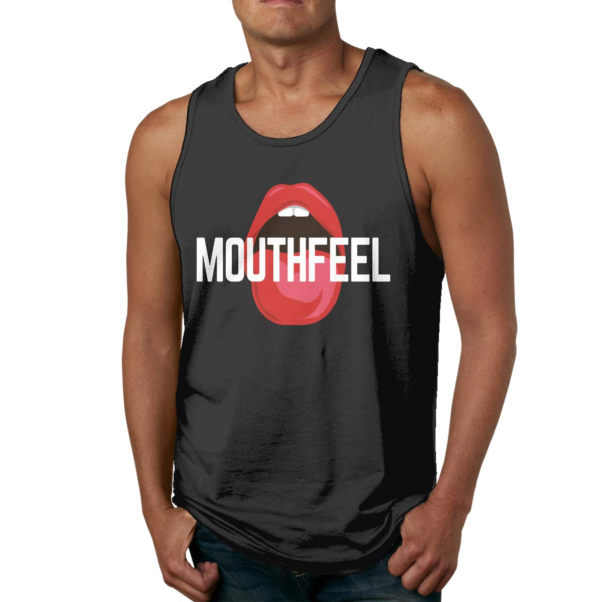 Mouthfeel Mens Sleeveless Activewear Top Jersey