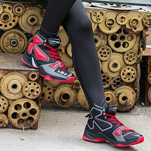 Sneaker Basketball Shock Shoes Shoes No Women's Couple Running Red Absorption Men's Town Black 66 HwUvqzS